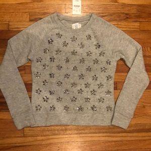 J CREW Rhinestone Sweatshirt